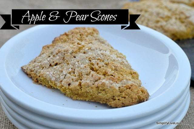 apple & pear scones