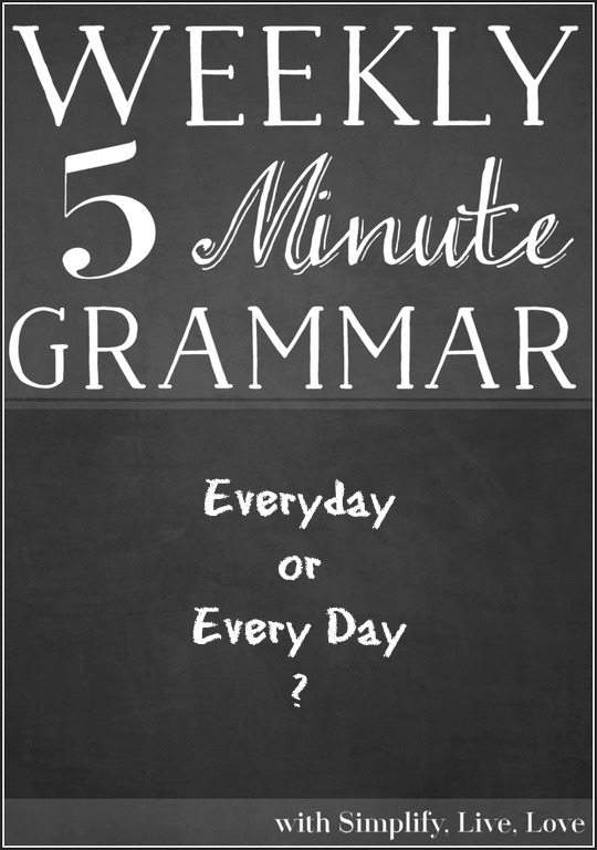 5 minutes grammar lesson - Everyday or Every Day