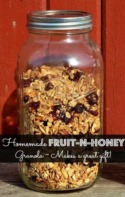 Homemade Fruit and Honey Granola