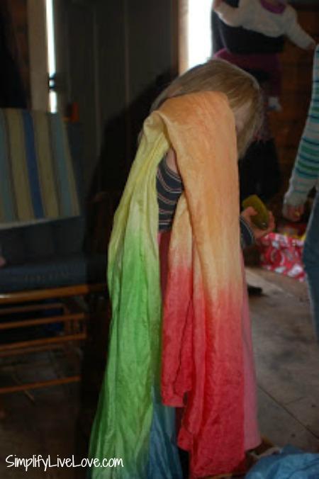 the rainbow Waldorf sillk
