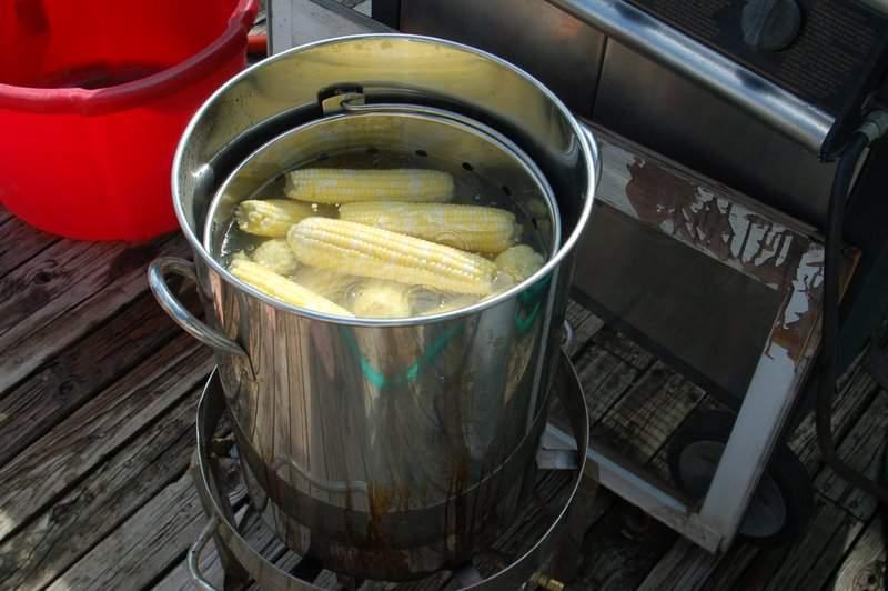 boil corn outside in a turkey burner