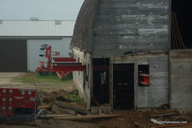 Getting the barn ready to move