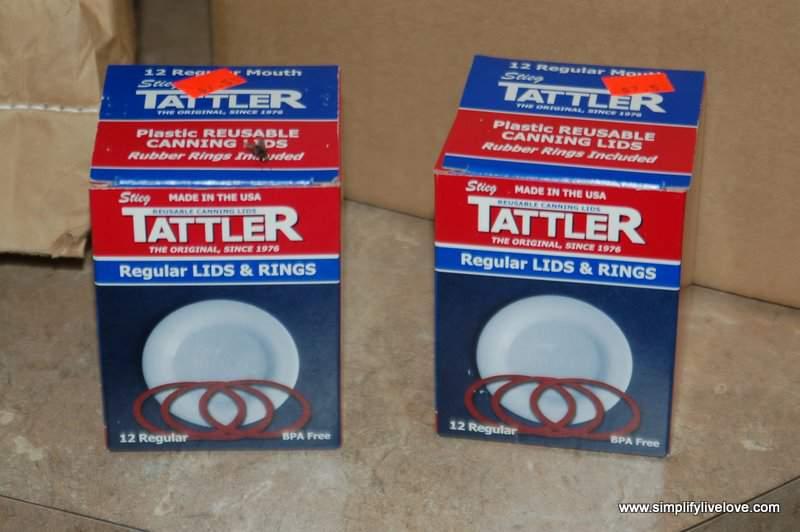 tattler lids from Stringtown Amish Bulk Food Store in Kalona Iowa