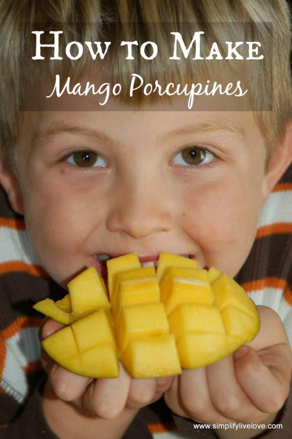 how to make mango porcupines