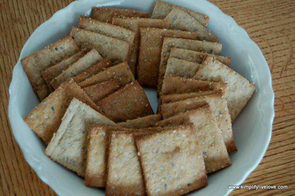 Homemade Crackers with Wholewheat & Sesame Seeds - From Scratch Recipe