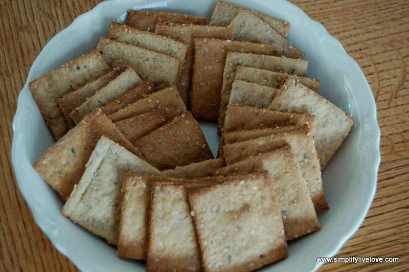 bowl of homemade crackers