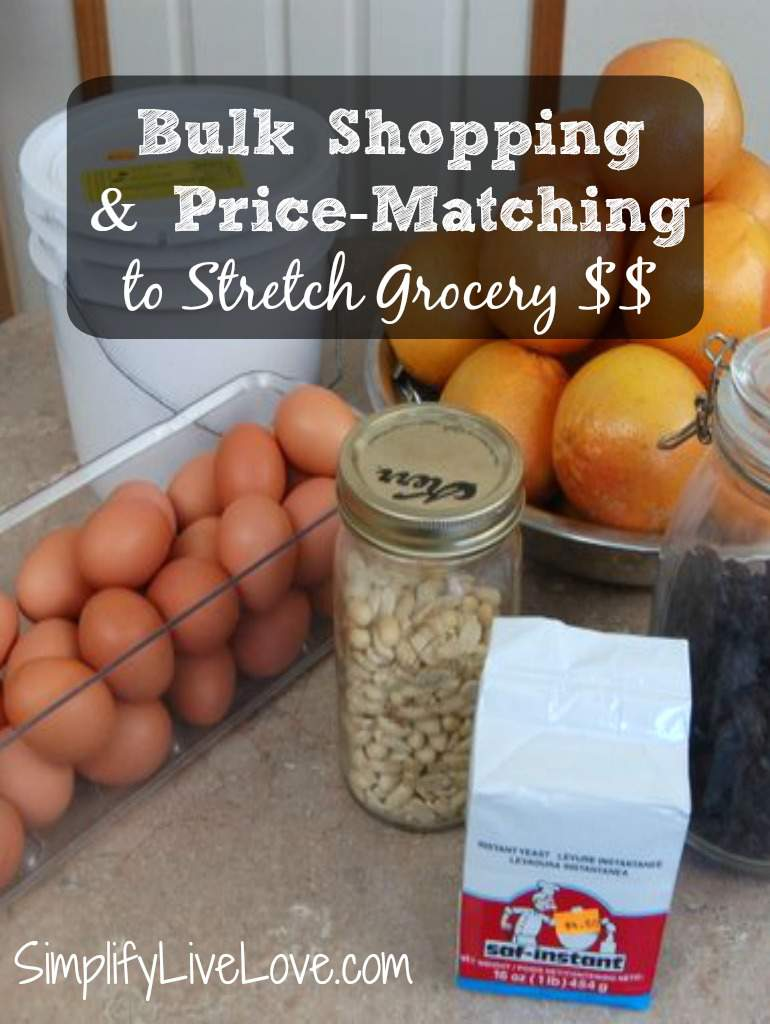 Bulk Shopping & Price-Matching to Stretch Grocery $$