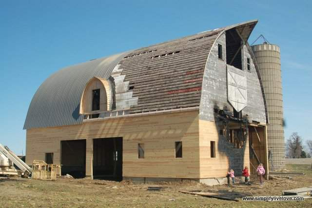 barn after the fire