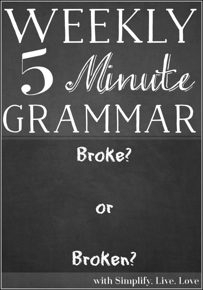 Are you curious about the proper use of the words broke or broken? This quick post describes when to use each word and also lists common improper uses.