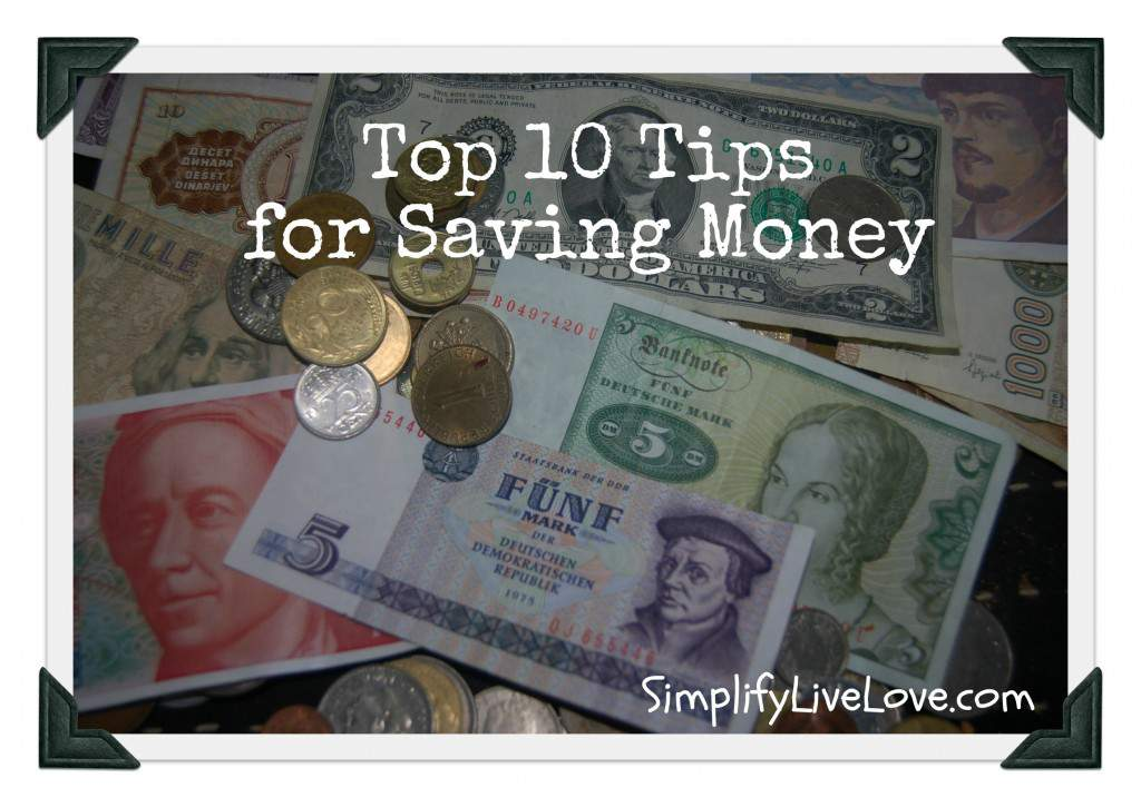 10 Tips for Saving Money