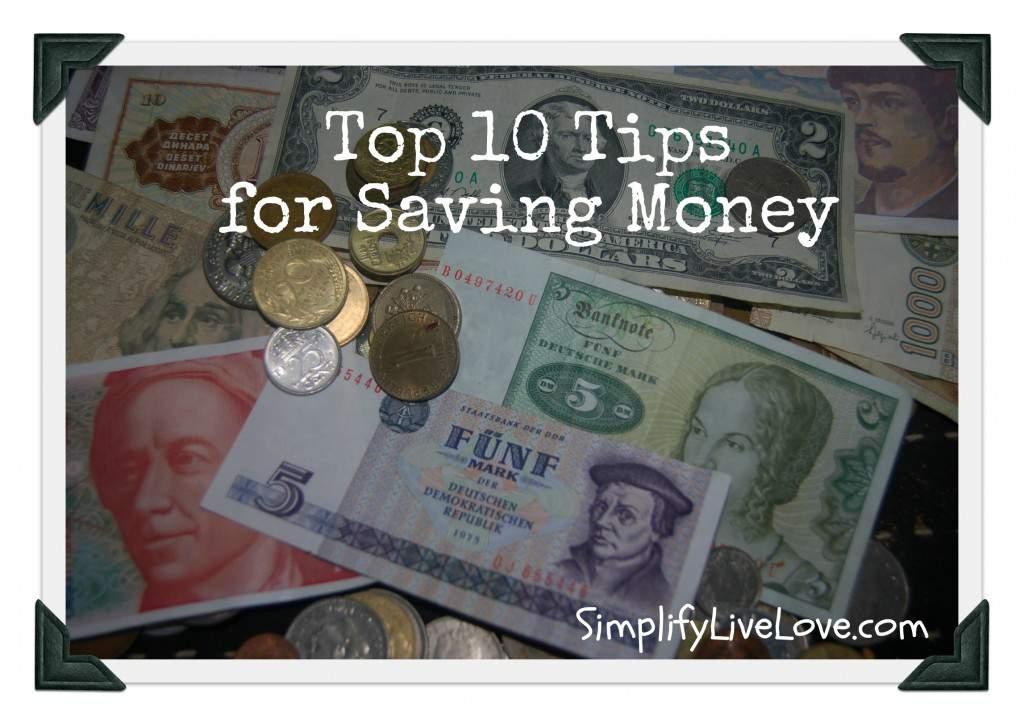 10 Tips for Saving Money
