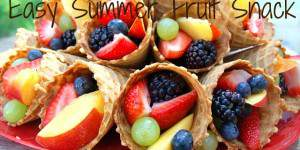 Fresh Fruit Waffle Cones Make an Easy Summer Fruit Snack
