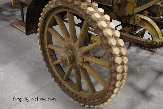 Wooden peg truck wheels at the Iowa 80 Trucking Museum