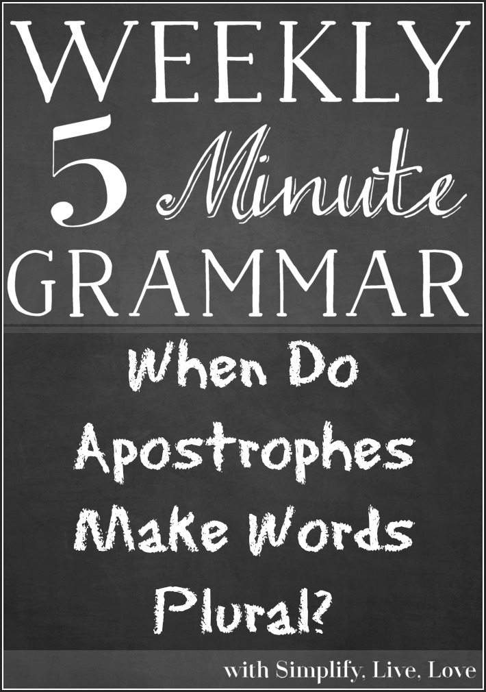 When Do Apostrophes Make Words Plural?