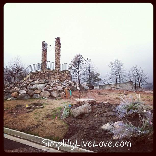 a burnt down house in Colorado Springs