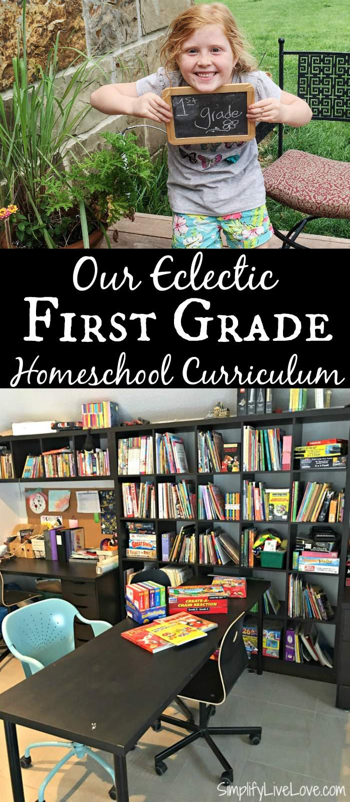 Our Eclectic First Grade Homeschool Curriculum. Resources and links to products we've used and loved to teach first grade.