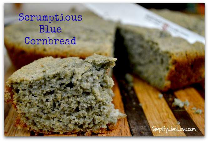 blue-cornbread. Easy cornbread recipe