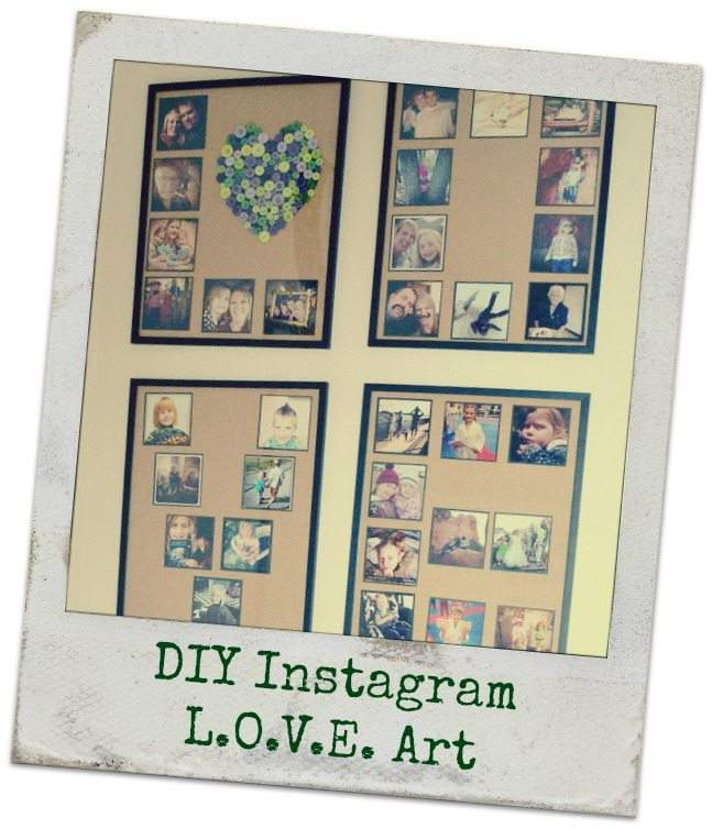 DIY Instagram LOVE Art