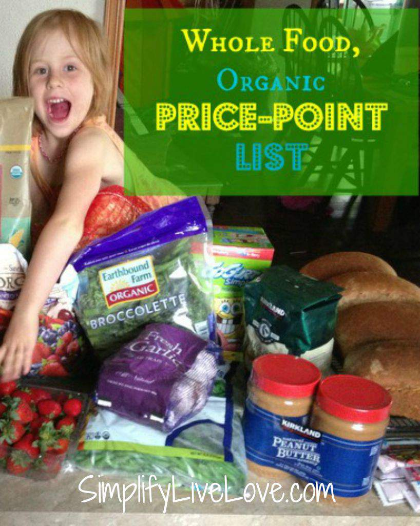 Frugal Friday ~ Whole Food, Organic Grocery Price-Point List