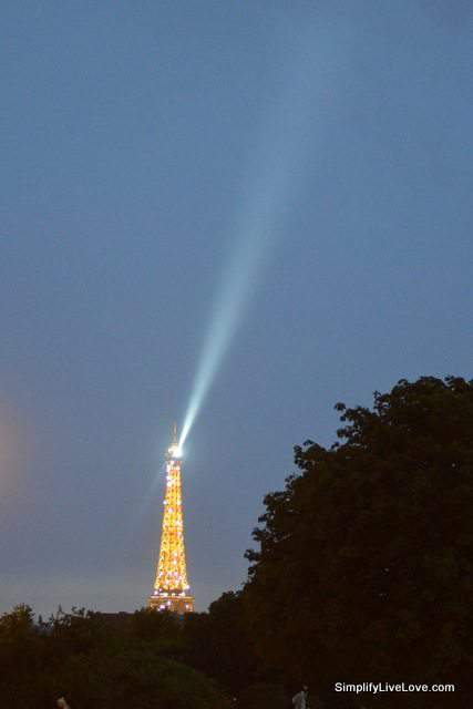 Eiffel Tower at dark