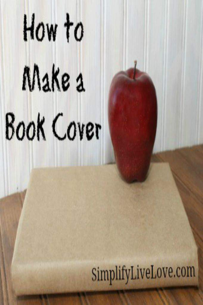 How To Make A Book Cover ~ Frugal friday how to make a book cover simplify live