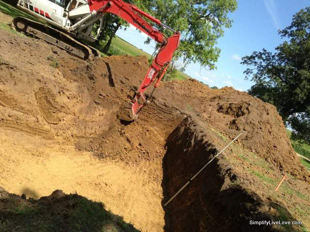 digging the passive house foundation