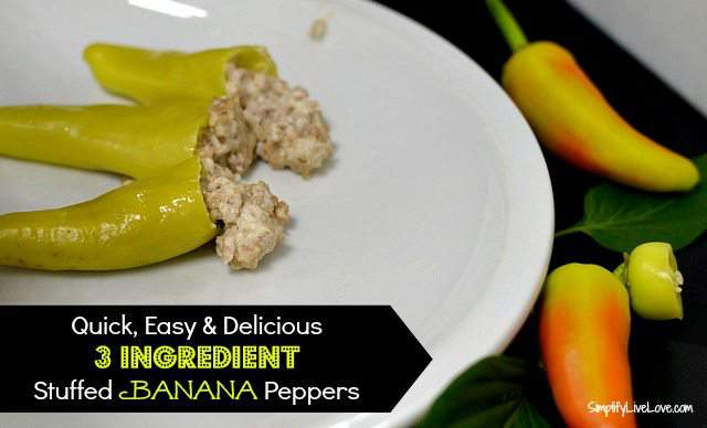 3 ingredient stuffed banana peppers
