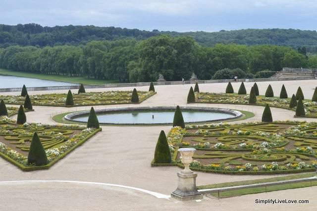 formal gardens at Versailles