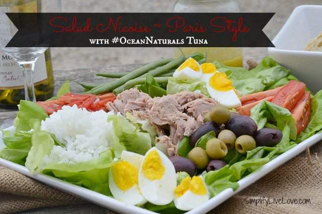 Salad Nicoise Paris Style with #OceansNaturals Tuna #shop