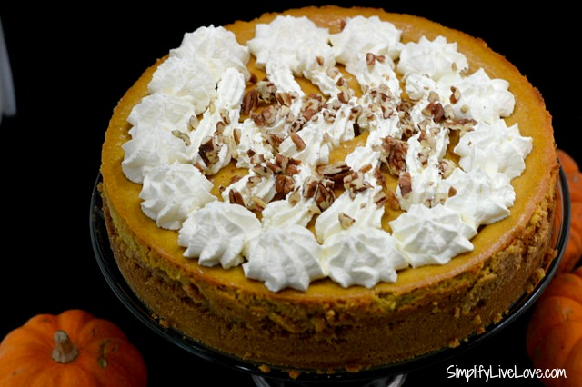 Easy Pumpkin Cheesecake @CartonSmart Organic Pumpkin Puree