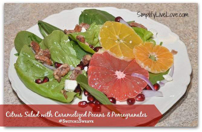 Citrus Salad with Caramelized Pecans & Pomegranates