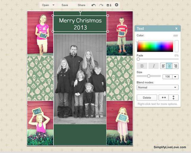 How to add text to a picmonkey collage