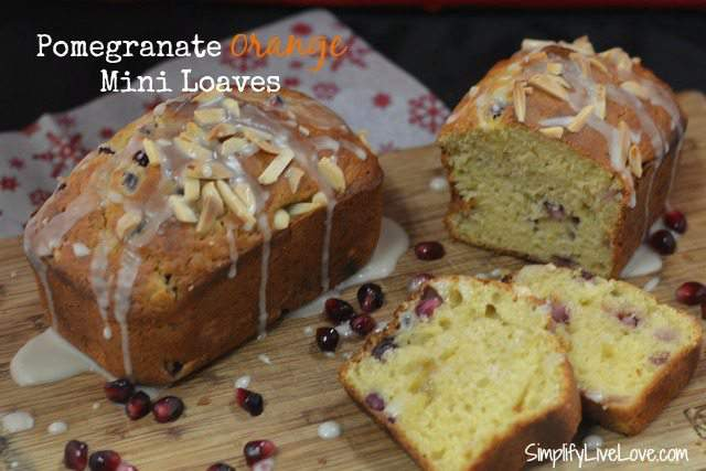 Pomegranate Orange Mini Loaves