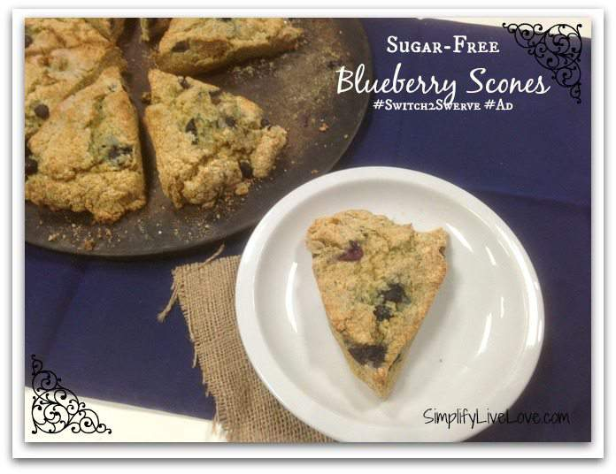 Sugar-Free Blueberry Scones