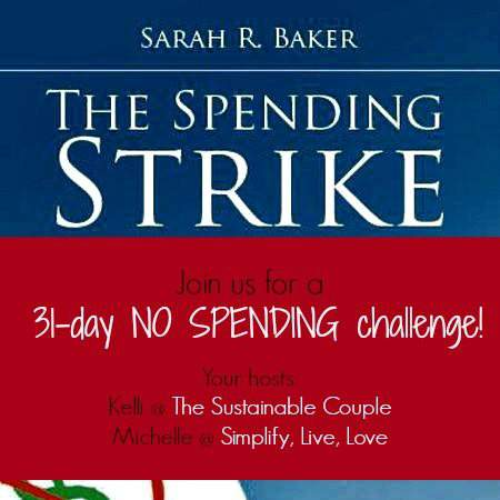 30 Day Spend Nothing {or as close to nothing as possible} Spending Strike
