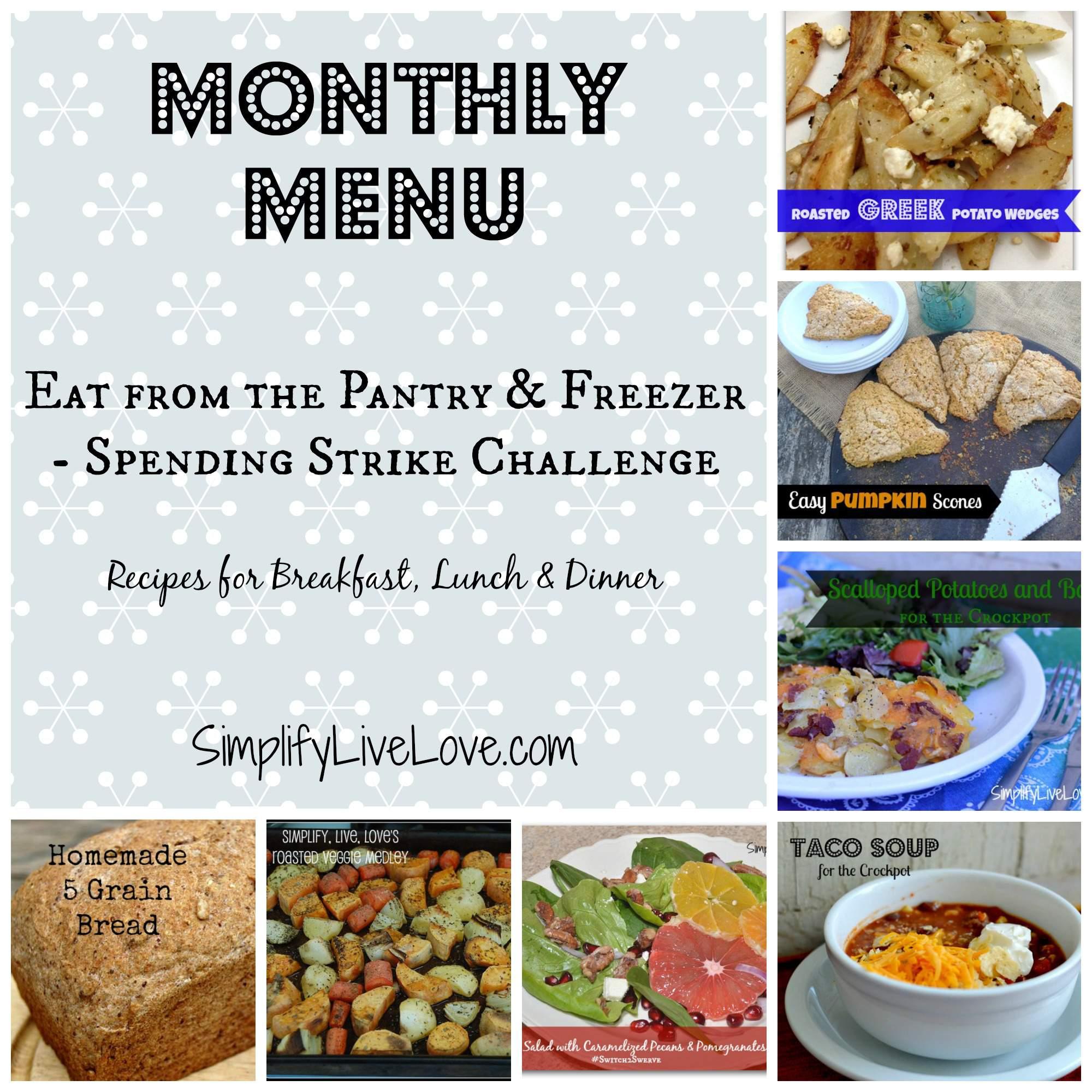 January Monthly Menu