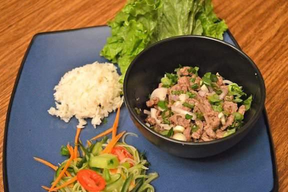 Beef Laab and Cucumber Salad - Spicy Thai Salad