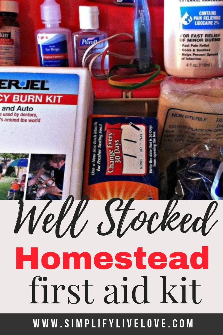 well stocked homestead first aid kit