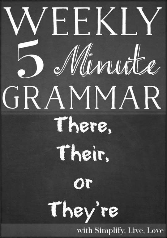 There, Their, or They're- A Grammar Lesson