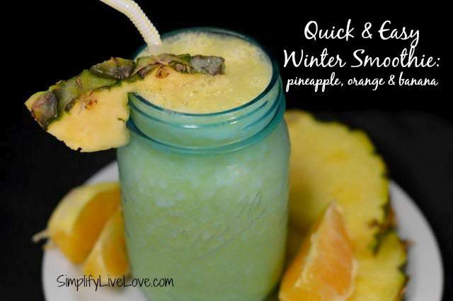 uick and easy winter smoothie