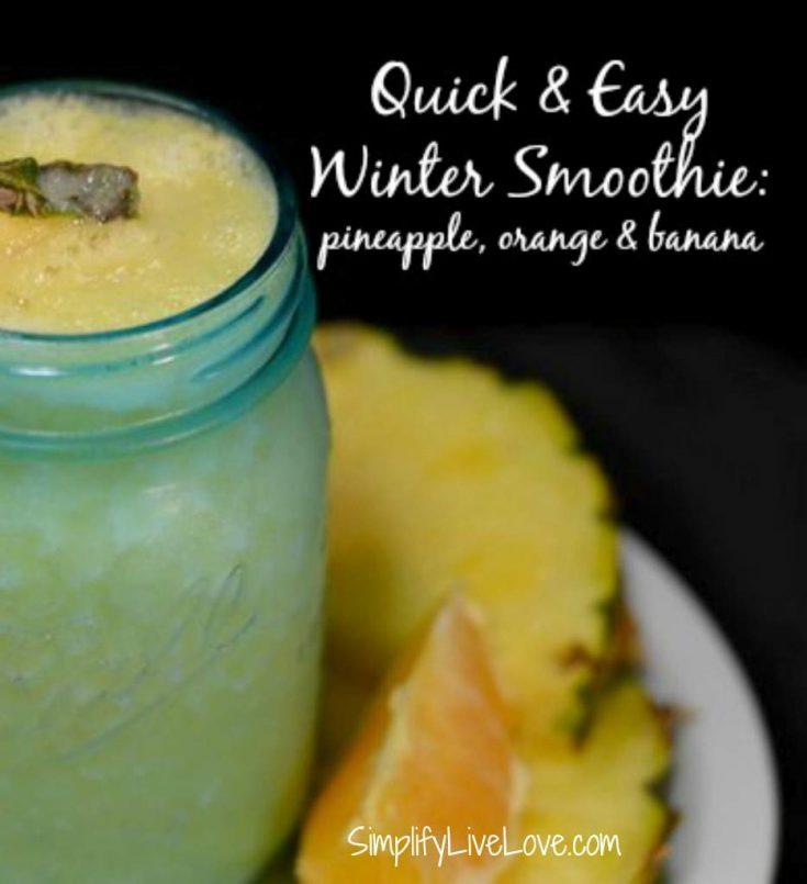 Quick & Easy Winter Smoothie – Pineapple, Banana, & Orange