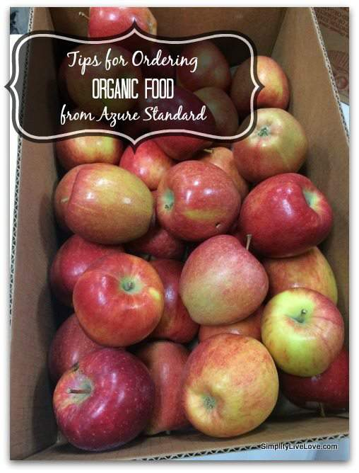 Tips for ordering organic food from azure standard