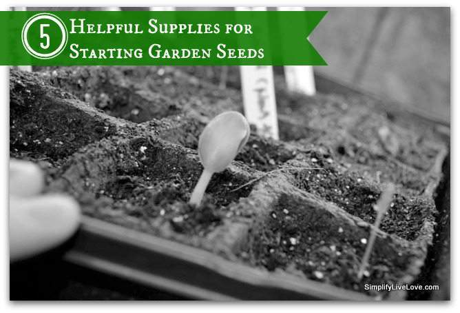 helpful supplies for seed starting