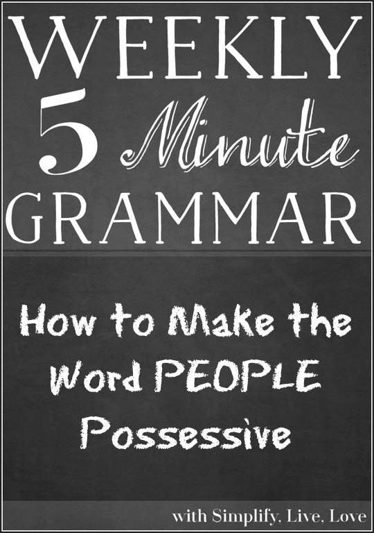 How to Make the Word PEOPLE Possessive - A grammar lesson