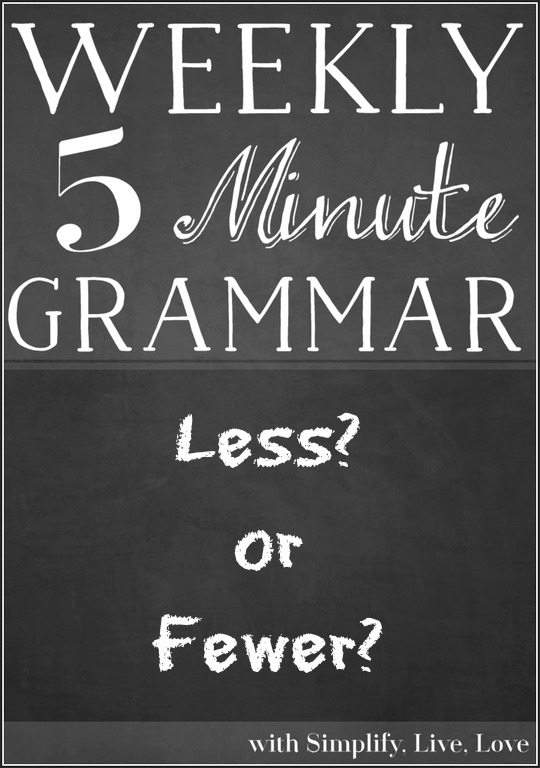 Less? or Fewer? - A grammar lesson