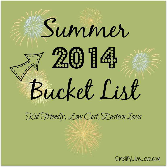 Summer 2104 Bucket List