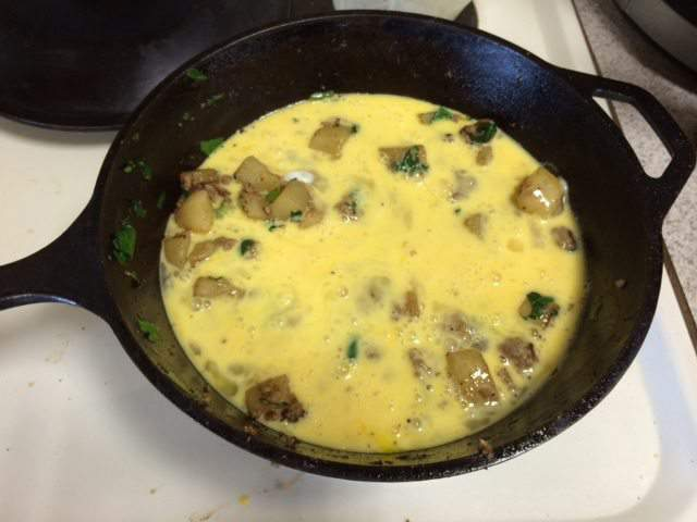 Sausage, Potato, and Spinach Frittata