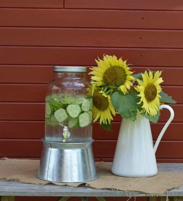 sunflowers and cucumber water
