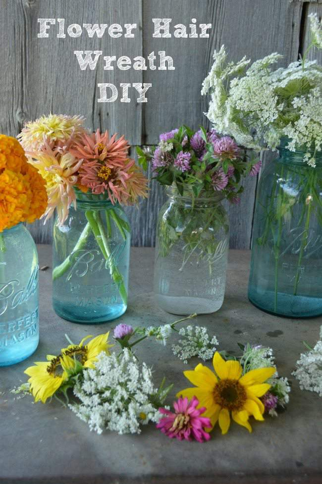 Flower Hair Wreath DIY on the momitforward blog
