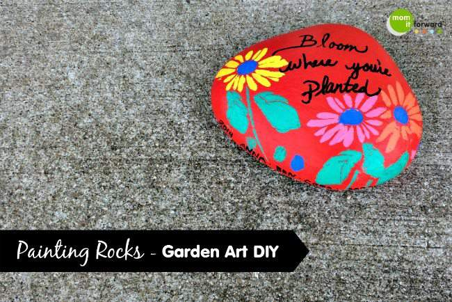 Painting Rocks - Garden Art DIY